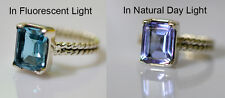 100% Color Change Lab Created Alexandrite 925 Solid Sterling Silver Ring 3-14 US