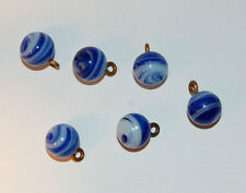 VINTAGE SWIRLY GLASS MARBLE BALL PENDANT BEADS • 11mm • Assorted Colors