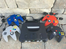 Nintendo 64 Console + Genuine Controllers TIGHT STICKS + Cords +  FREE GAME N64