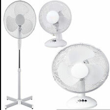 """9"""" / 12"""" / 16"""" PEDESTAL OSCILLATING STAND FAN DESK ELECTRIC TOWER STANDING HOME"""
