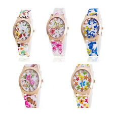 Women Silicone Watch  1Pcs Watch Quartz Watches New Sports Jelly Fashion Floral