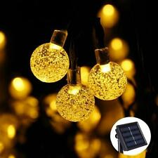 Outdoor 30 LED Bubble Beads Solar String Lights Garden Party Fairy Lamp Romantic