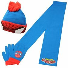 SPIDERMAN:WINTER SET 2014,GLOVES/HAT/SCARF,2-8YR APPROX,NEW WITH TAGS