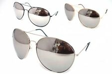 Aviator Sunglasses Extra Large Silver Mirrored Lenses Black Gold Silver Frames