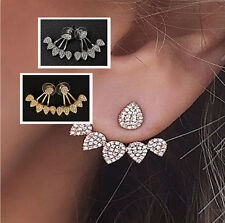 Pretty Water Drop Shape Women 1 pair Ear Stud Pretty Crystal Earrings Jewelry