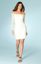Hale Bob Fitted Lace Dress Off Shoulder Long Sleeve XS S NWT 2RLW6115 *