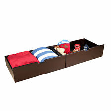 Max & Lily Solid Wood Underbed Storage Drawer Set of 2