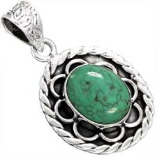 925 Sterling Silver Designer Jewelry Natural Turquoise Gemstone Pendant aW76761