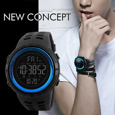 Stylish Mens Double Time Countdown Digital Watch Sports Military Wristwatches