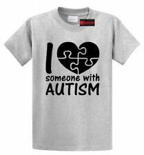 I Love Someone With Autism Shirt Cute Autism Awareness Unisex T Shirt 16 Colors