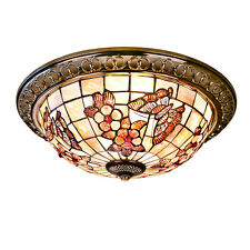 Tiffany Butterfly Ceiling Light Bedroom Hall Aisle Porch Hanging Lamp Home Decor