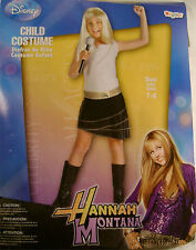 Disney Hannah Montana Costume Child Girl Blonde Wig Shirt Skirt Dress Up