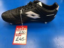 LOTTO STADIO FOOTBALL BOOTS - BLACK/WHITE - VARIOUS SIZES