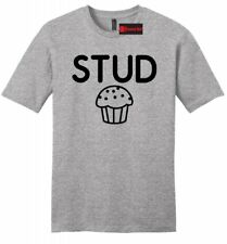 Stud Muffin Funny Mens Soft T Shirt Cute Boyfriend Gift College Tee Shirt Z2