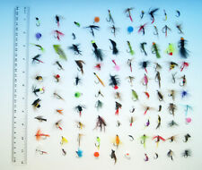 Lots Assorted Trout Fly Fishing Assorted Trout Flies Bee Nyphm Larva Bugger