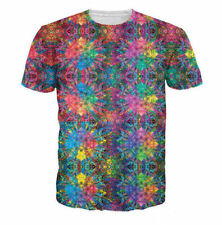 Summer Women/Men colorful psychedelic 3D Print casual short sleeve T-Shirt S-5XL