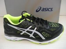 ASICS MENS GEL-KAYANO 23 RUNNING SNEAKERS-SHOES- T646N-9093- BLACK/SILVER/YELLOW