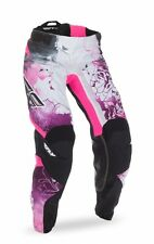FLY Racing Kinetic 2017 Youth Girls MX/Offroad Pants Pink/Purple/White