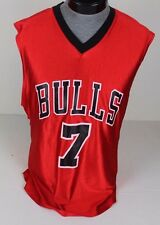 CHICAGO BULLS BEN GORDON #7 NBA BASKETBALL JERSEY ADULT SIZE MEDIUM M RED