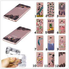 Rubber Patterned Silicone Clear Soft TPU Cute Back Cover Case For Mobile Phones