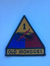 Vintage US Army First Armored Division Uniform Patch Old Ironsides WWII Gulf War