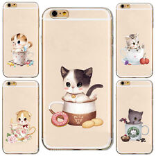 1Pcs Case Soft Phone Cup Cat Shell Hot For iPhone Silicon Mobile New