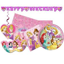 Disney PRINCESS DREAMING Party Range (Birthday/Plates/Napkins/Banner/Stickers)
