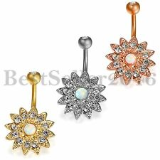 1PC Stainless Steel Flower Shape Navel Belly Button Ring Nails Body Piercing New