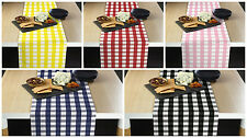 Picnic Check Polyester Table Runners - Assorted Sizes & Colors!