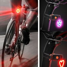 USB 5 Modes Lamp Rechargeable Indicator LED Bicycle Bike Safety Rear Tail Light