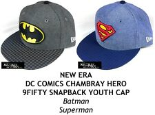 NEW ERA DC COMICS CHAMBRAY HERO YOUTH 9FIFTY SNAPBACK CAP - BATMAN/SUPERMAN