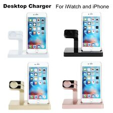 2 in 1 Charging Dock Station Cradle Stand Holder Charger For Iwatch for Iphone 7