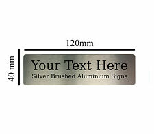 Custom Personalised 120x40mm Your Text Aluminium Sign Door Plaques House Office