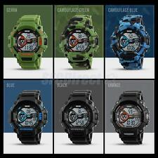 Multifunction Waterproof Sport Men's Digital Quartz Silicone Strap Wrist Watch