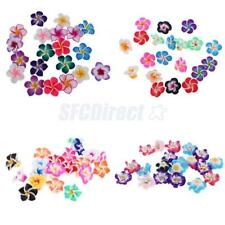 20Pcs Cute Mixed Colors Handmade Polymer Clay Flower Spacer Beads Charms Crafts