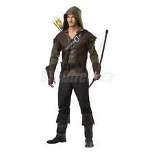 Forest Archer Costume Medieval Hero Warrior Cosplay Party Fancy Dress S-XXL