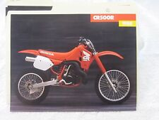 NOS Honda 1988 CR500 DEALER SALES BROCHURE