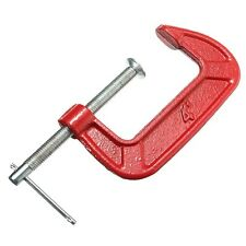 Adjust Heavy Duty G Clamp 1/2/3inch C/W Soft Jaw Pads G Clamp Iron Red