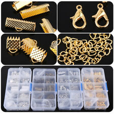 200Pcs Jewelry Findings Making Parts Supplies Findings Clasp Jump Rings Case DY