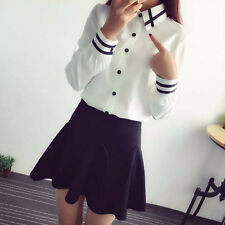 Fashion Women Long Sleeve Button Office Career Formal Slim Blouse Shirt Tops New