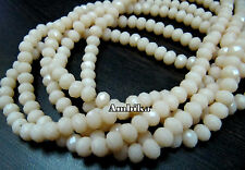 AAA Hydro Quartz Pink Opal 6mm Size Rondelle Faceted Beads , Length 17-18 inches