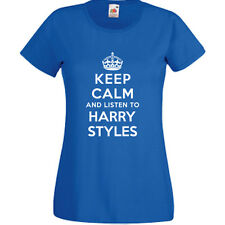 Keep Calm And Listen To Harry Styles T Shirt Mens Womens Childrens Band Gig