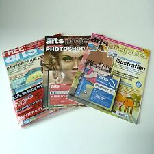 3x Computer Arts Magazine BUNDLE - Issues #47 #49 #85 WITH Cover CDs Projects