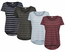 JDY by ONLY Ladies T-Shirt COAST STRIPE TOP Stripes short sleeve oversize mullet
