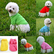 Small Puppy Summer Pet Dog Cat POLO T-Shirt Casual Suit Cotton Clothes 6 Colors