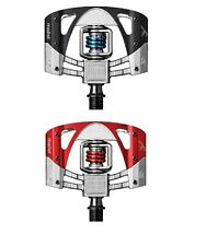 CRANK BROTHERS MALLET 3 RAW PEDALS - RED / MATTE BLACK - 15988/15989 NEW