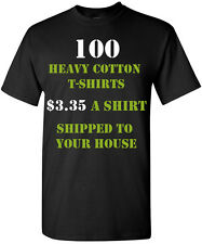 100 Custom Printed T-Shirts One Color, Two Color, One Location, Two Location