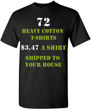 72 Custom Printed T-Shirts One Color, Two Color, One Location, Two Location