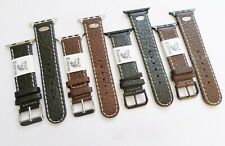 Taurus® Aero Genuine Leather Watch Band Strap For Apple Watch 42mm + Adapters