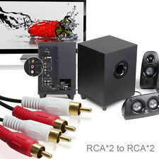Premium Gold-Plated 2RCA Male to 2RCA Male Stereo Audio Cable Connectors